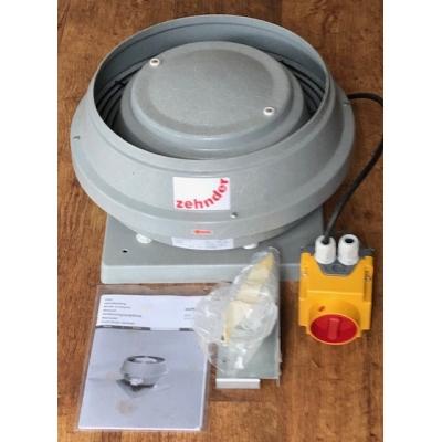 Nieuwe Zehnder VDA160/4-4 EC+BS dakventilator. (490m3)